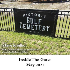 Historic Gulf Cemetery published in Inside The Gates May 2021