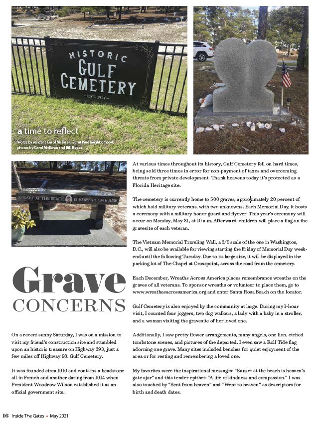 Gulf Cemetery Published by Inside The Gates - May 2021